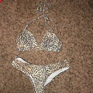 Victoria's Secret Leopard Bikini Set Cheeky XS